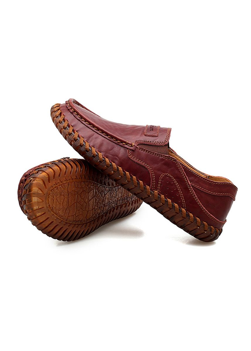 Maroon color Casual Shoes . Men's Handmade Leather Driving Shoes -