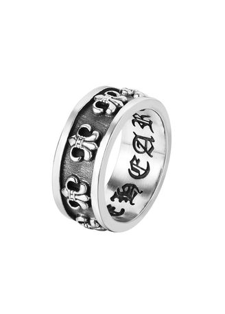 เงิน color แหวน . Alternative Vintage Men's Hip Hop Titanium Steel Ring -