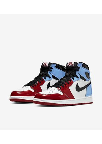 Multi color Casual Shoes . Nike Jordan 1 Fearless UNC to Chicago -