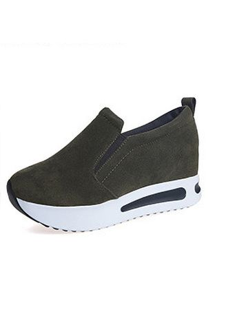 Green color Casual Shoes . Sports Casual Running Shoes Autumn Breathable Women's Shoes -