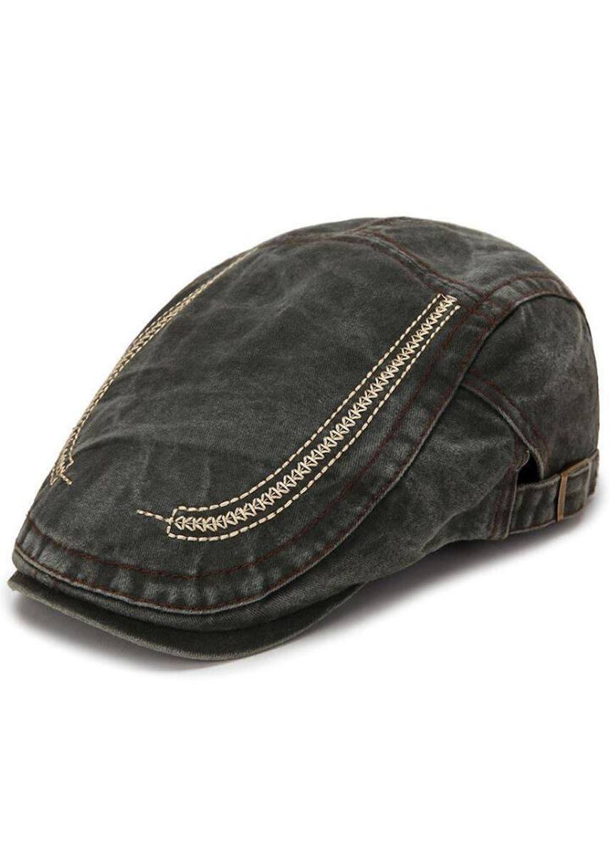Green color Hats and Caps . Men Cotton Adjustable Newsboy Beret  -