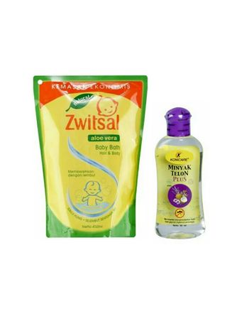 No Color color Body Wash . Zwitsal Baby Bath Hair and Body 450ml + Konicare plus 60ml -