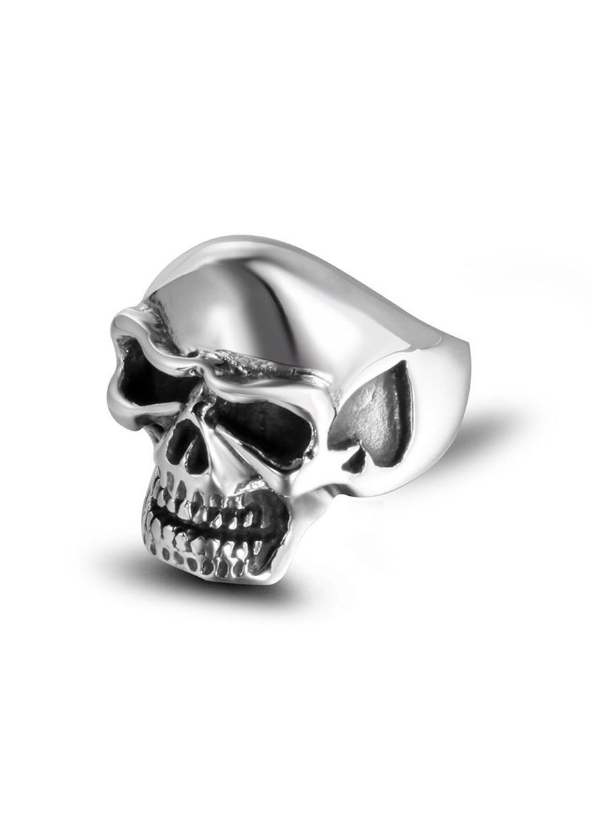 เงิน color แหวน . Men's Trendy Heart Skull Ring -