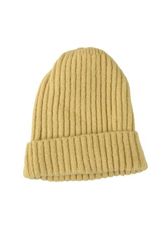 . Ribbed Knit Beanie Hat Classic Plain Warm Cuff Daily Cap -