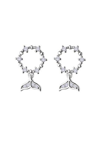 Silver color  . Dolphin Tail -