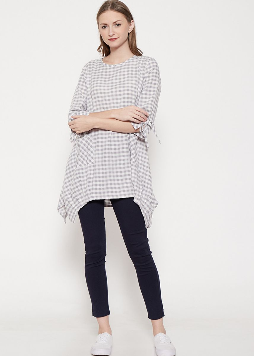 Abu-Abu color Atasan & Tunik . GRAPHIS Asimetric Tunic -