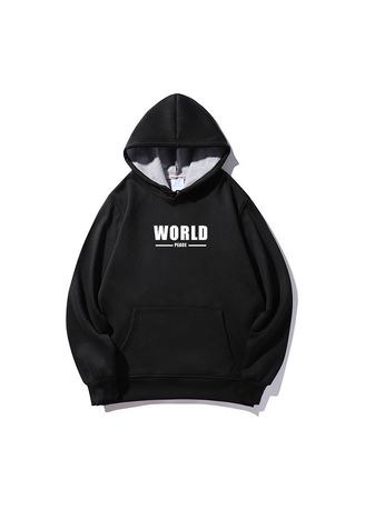 Black color Sweaters . World peace sweater -