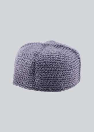 สีม่วง color Sholat Equipment . Hand-knitted Muslim Warm-keeping Service Cap   -