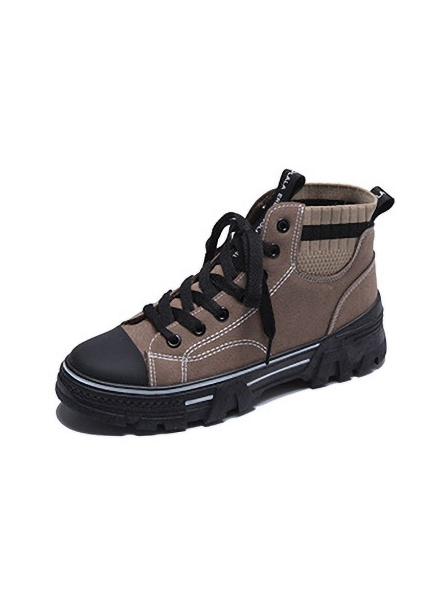 Khaki color Boots . New Martin In Winter Students Add Velvet To Keep Warm Boots -