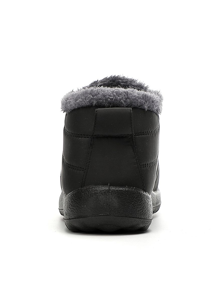 ดำ color บู้ต . Winter Cotton High-Top Wear Snow Boots  -