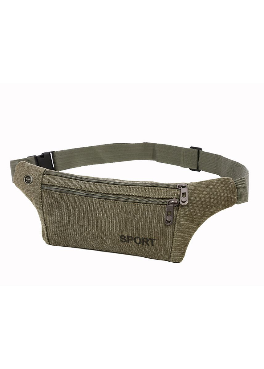 Green color Messenger Bags . Canvas Pockets Men And Women Sports Running Chest Bag Mobile -