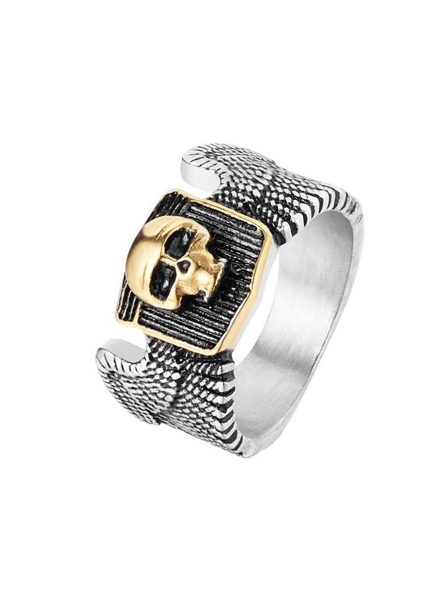 Silver color Rings . Personality Men's Titanium Steel Skull Ring -
