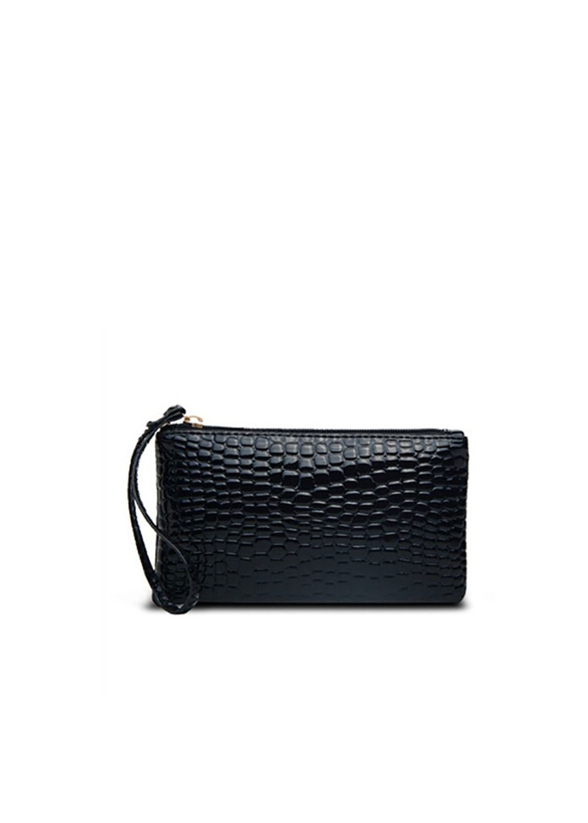 Black color Wallets and Clutches . Mirror Dress กระเป๋าคล้องมือ Black Crocodile -