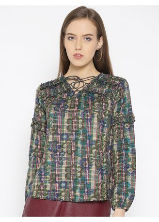 Multi color Tops and Tunics . Floral Printed Full Sleeve Top -