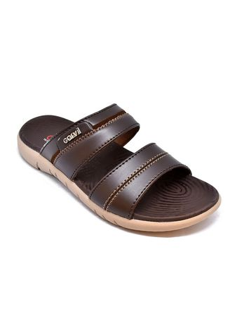 Brown color Sandals and Slippers . Carvil Sandal Pria Castor-02 M Brown/Brown -
