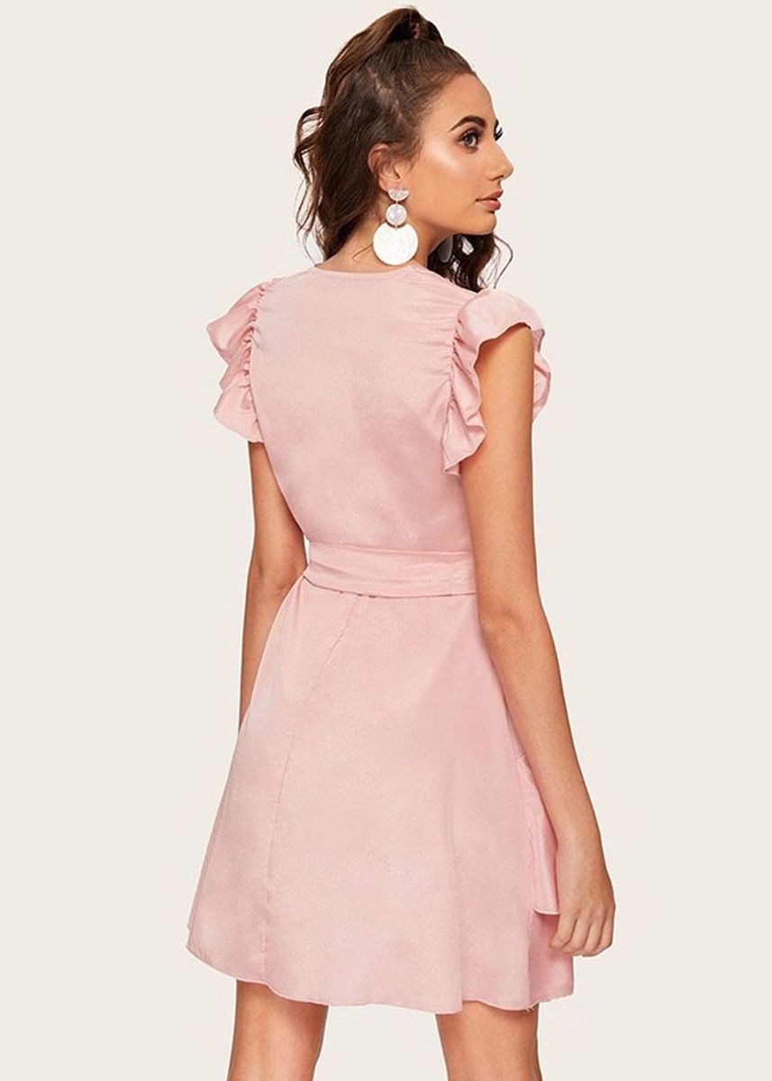 Pink color Dresses . Design Goddess Makings Lace Dress -