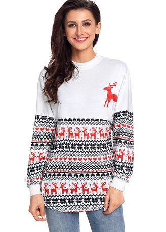 ขาว color แจ็คเก็ต . Christmas Sweater Spirit Jersey -