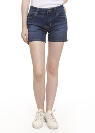 Blue color Shorts . 2Nd RED Celana Pendek Wanita Hot Pants Jeans Premium 261902 -