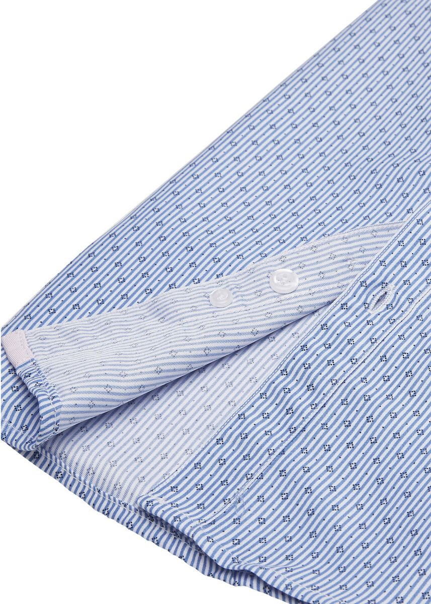 Light Blue color Tops . Cabbage Looper Boys Printed Button Down Short Sleeve Shirt -