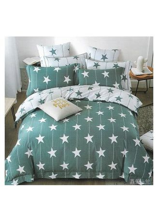 Multi color Bedroom . Sleep Buddy Set Sprei Big Star Cotton Sateen King Size -