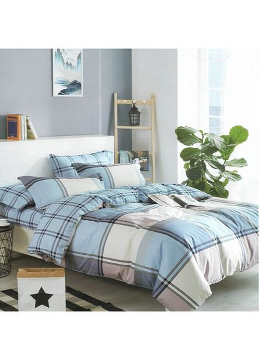 Multi color Bedroom . Sleep Buddy Set Sprei dan Bed Cover Big Square Cotton Sateen Extra King Size -