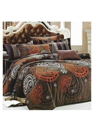 Multi color Bedroom . Sleep Buddy Set Sprei Big Brown Cotton Sateen Extra king Size -