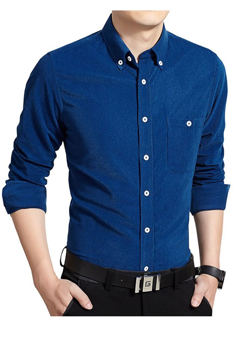 Blue color Formal Shirts . Solid Business Men's Formal Shirts -