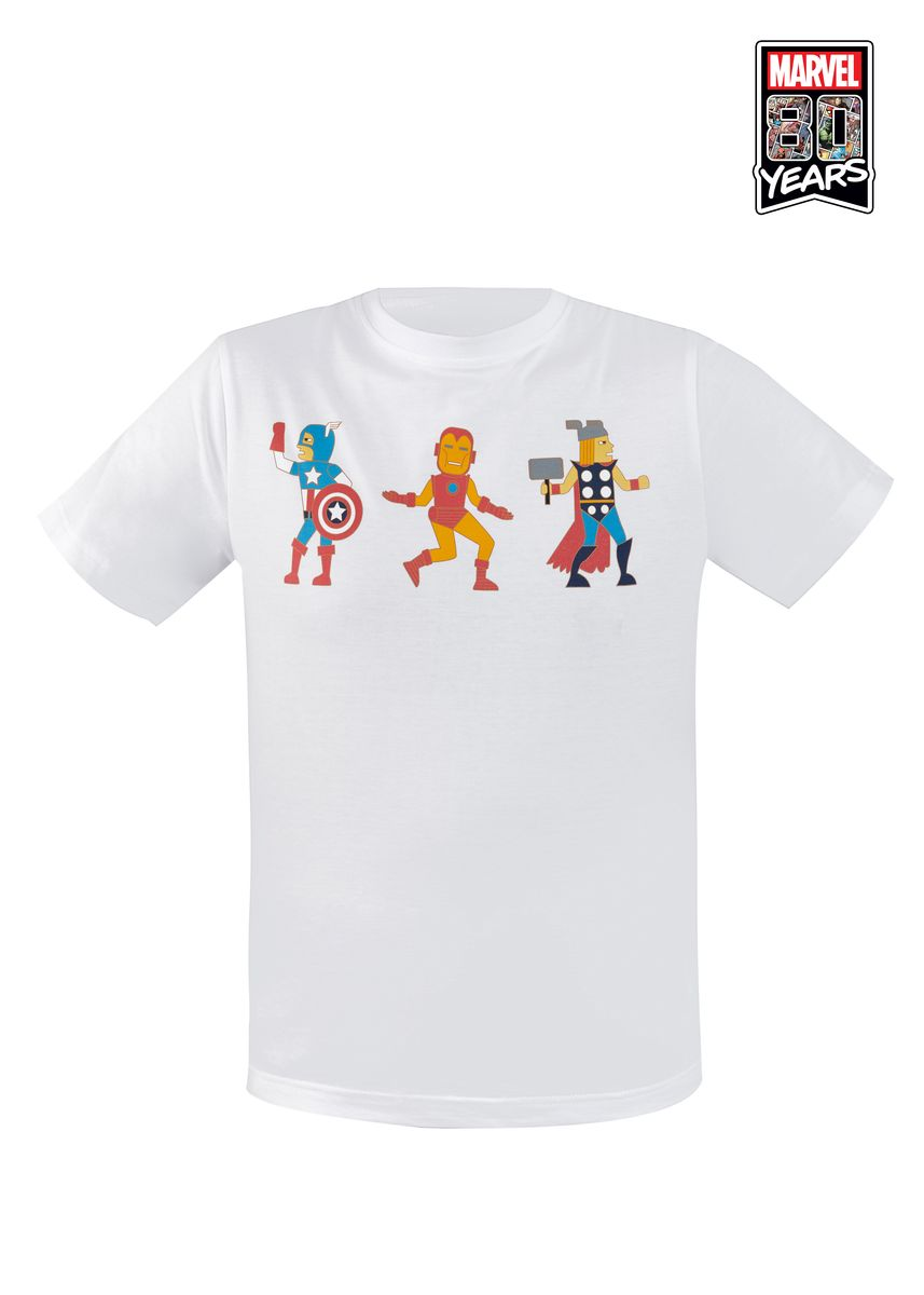 White color  . Limited Edition Marvel 80th Competition T-Shirt Winner Krittee Yampraipirom -