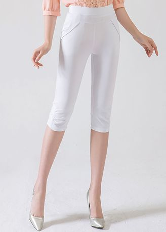 Shorts . High Waist Was Thin and Thin Large Size Casual Cropped Pants -