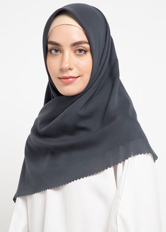 Grey color Hijab . RA Hijab - Valeda  -