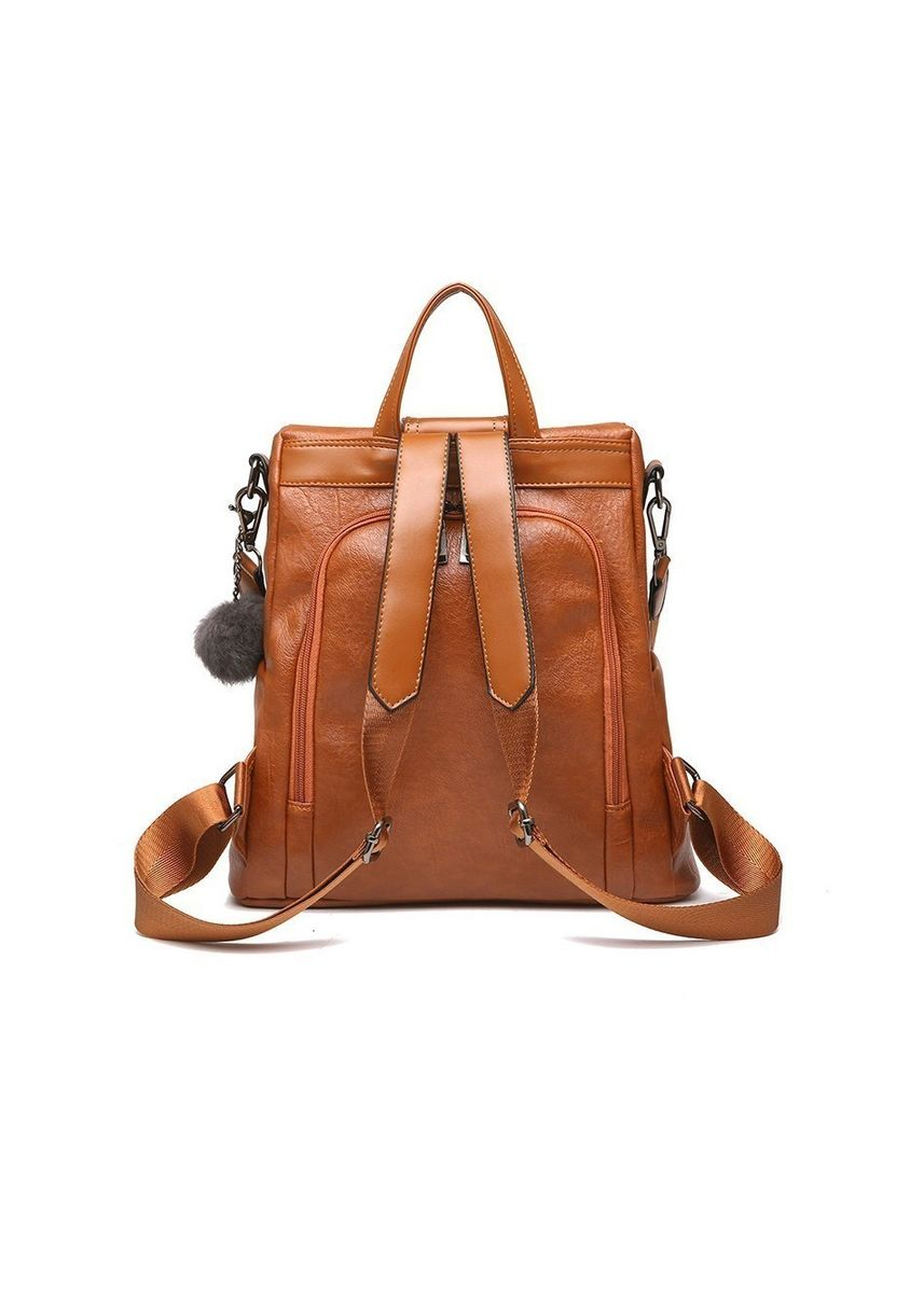Brown color Backpacks . Stylish High-quality Leather Anti-theft Large-capacity Backpack -