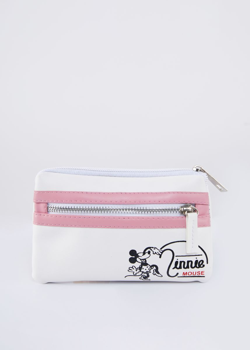 Grey color Wallets and Clutches . Disney's Minnie Mouse Print Pouch -