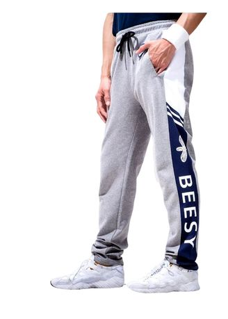 Light Grey color Casual Trousers and Chinos . Beesy กางเกงวอร์ม ขายาว รุ่น Beesy Pant สีเทาอ่อน -