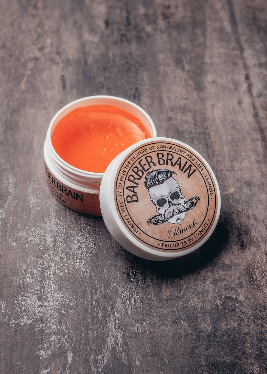Yellow color Styling . L'ANGEL Barber Brain Pomade 80 g. BB-503 -