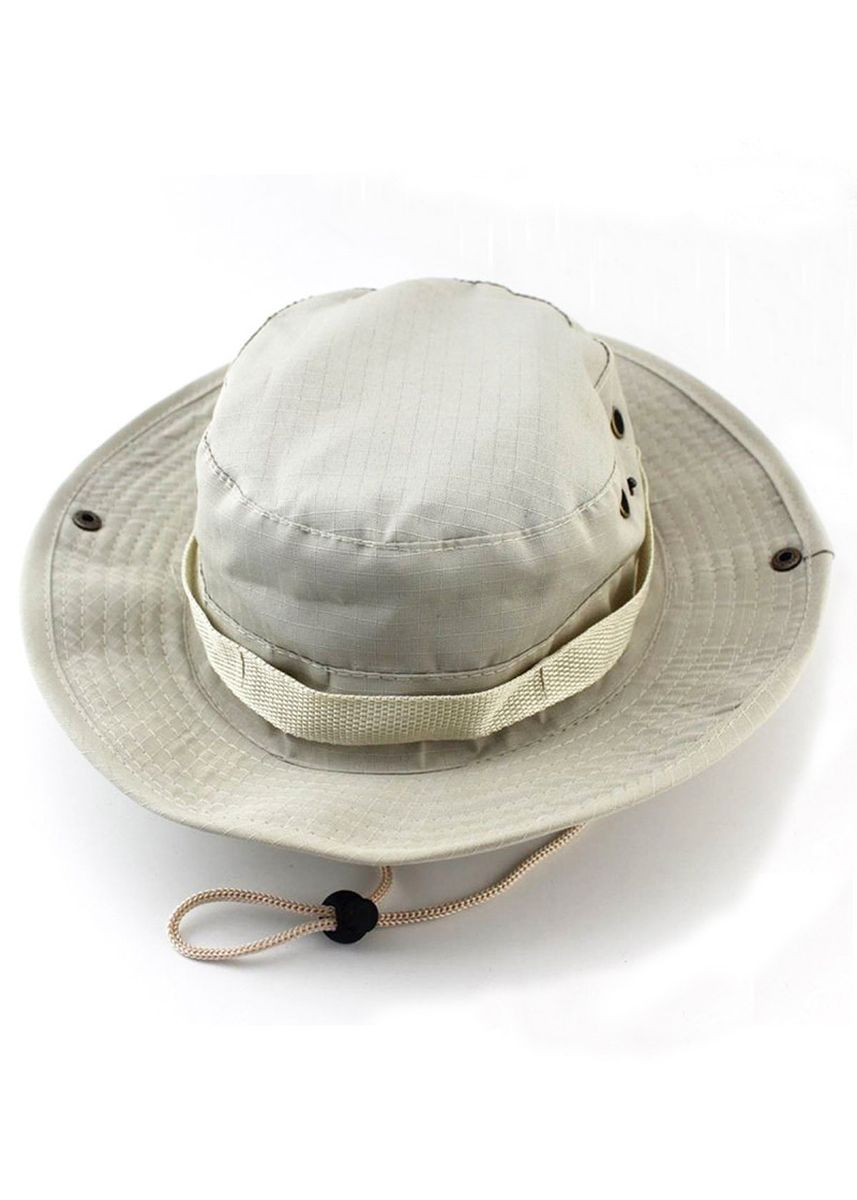 Beige color  . Boonie Hat Hiking Fishing Military Sun Beige Hats Unisex Women Men -