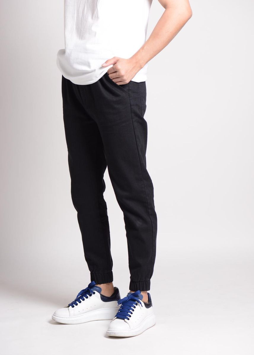 Black color Casual Trousers and Chinos . Gene Classic Denim Joggers -
