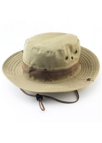Khaki color  . Hiking Fishing Unisex Sun Hats -