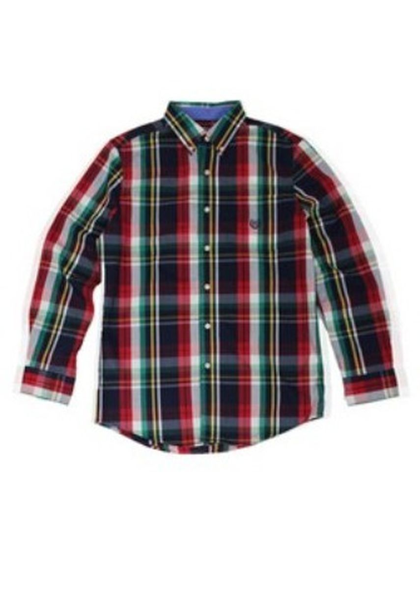 Red color Formal Shirts . CHAPS by Ralph Lauren Men's Knit Long Sleeves -