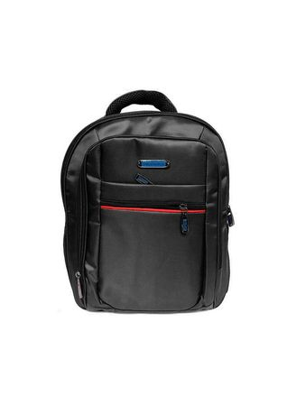 Black color Backpacks . Backpack Cowok Polo Gives Port USB  Tas Punggung Pria -