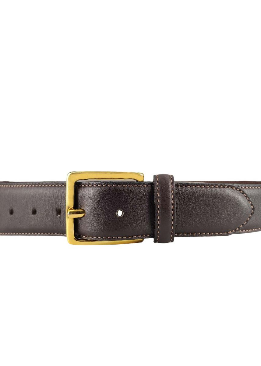 Brown color Belts . Mens Classic Leather Belt Grained Chocolate Mode Assembly -