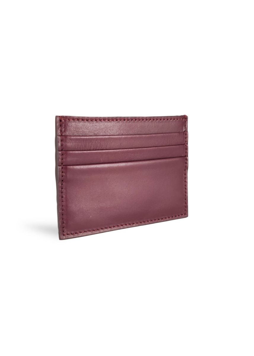 Maroon color Wallets . Men's Credit Card Holder Smooth Leather Mode Assembly   -