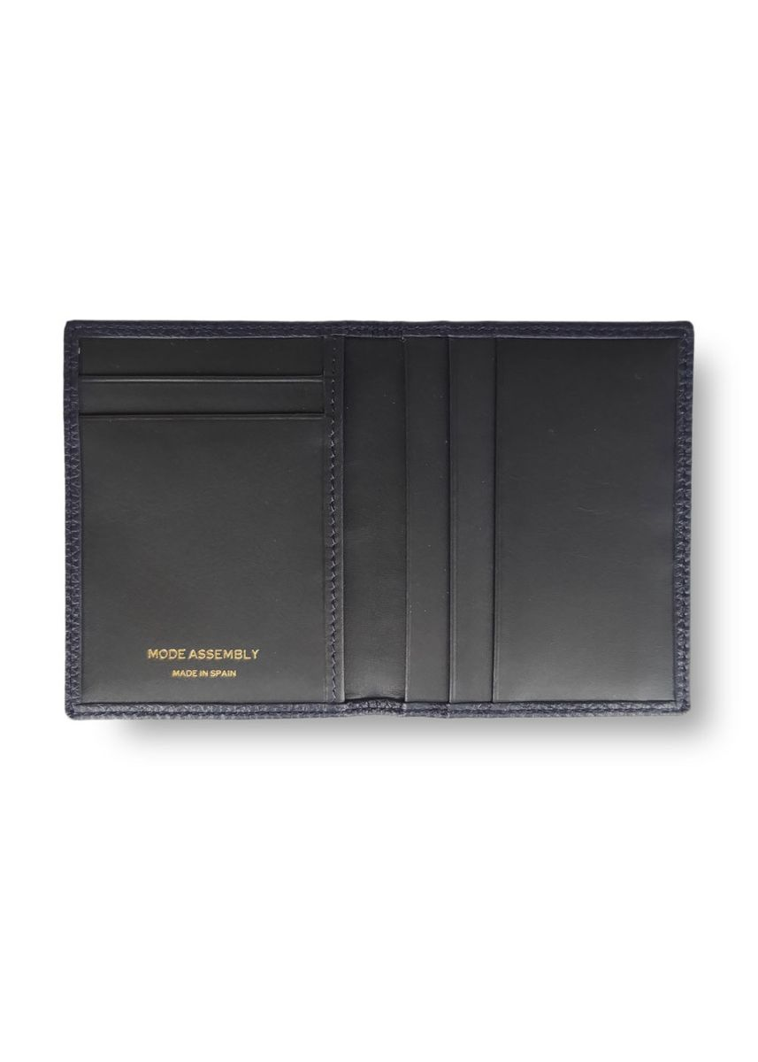 Navy color Wallets . Mens Card Holder Wallet Smooth Grained Leather Mode Assembly -