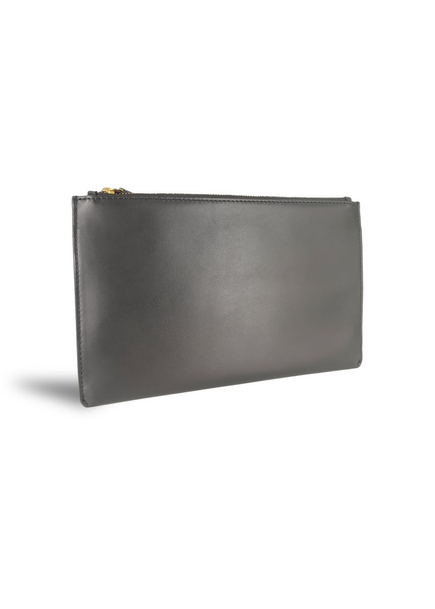 Black color Wallets . Men Clutch Smooth Leather Mens Pouch Mode Assembly -