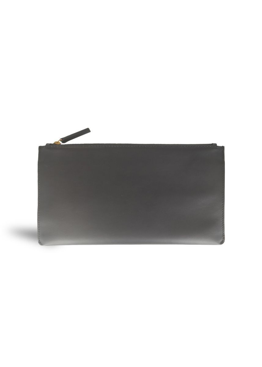 Black color Wallets . Mens Travel Wallet Smooth Leather Clutch Pouch Mode Assembly -