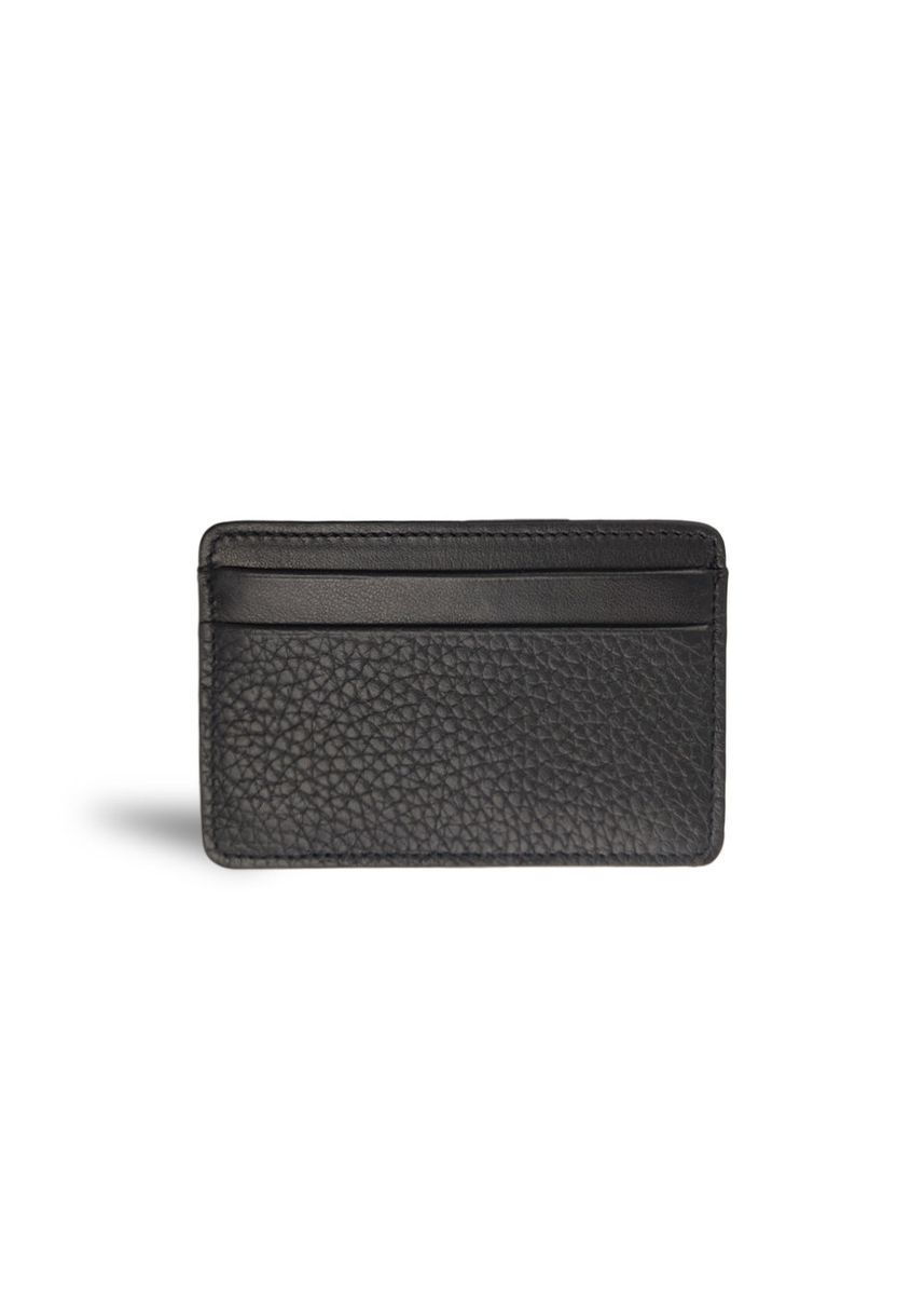 Black color Wallets . Mens Card Holder Case Smooth Grained Leather Mode Assembly -