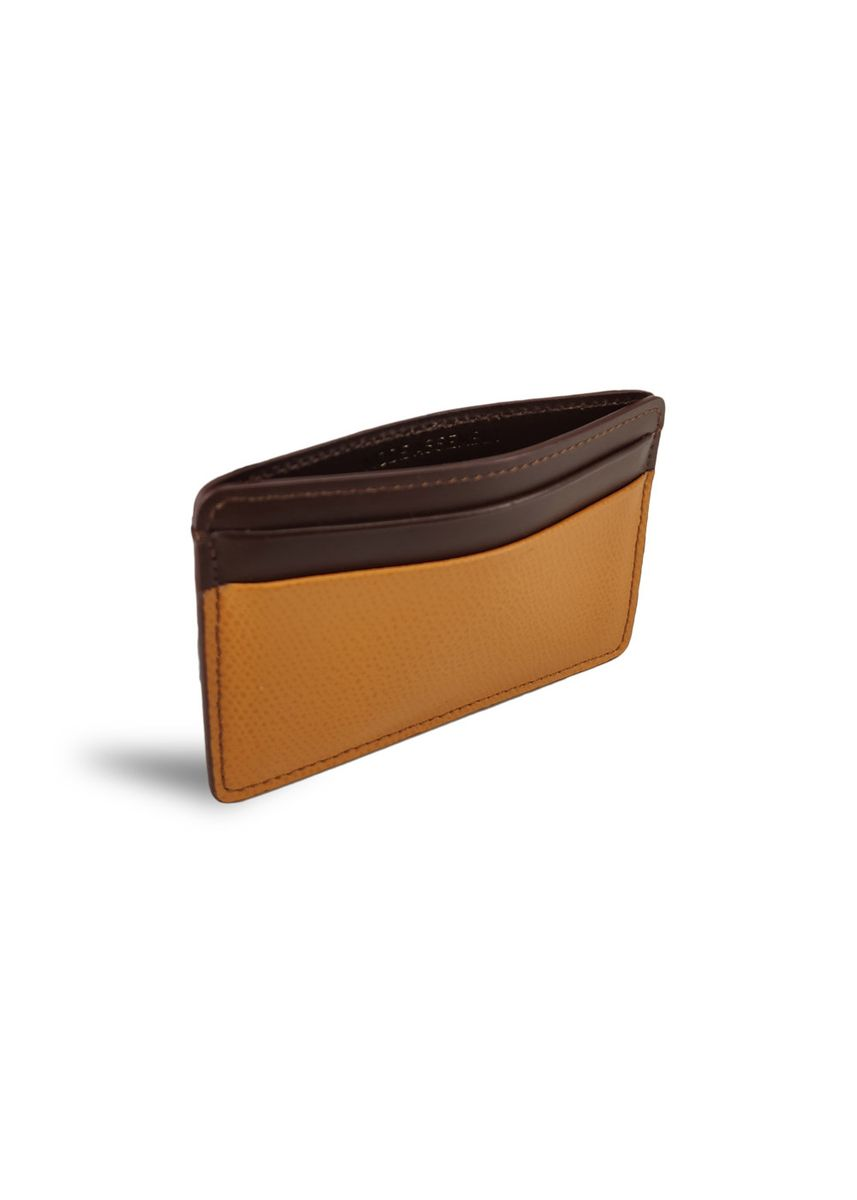 Tan color Wallets . Men's Leather Card Holder Smooth Textured Wallet -
