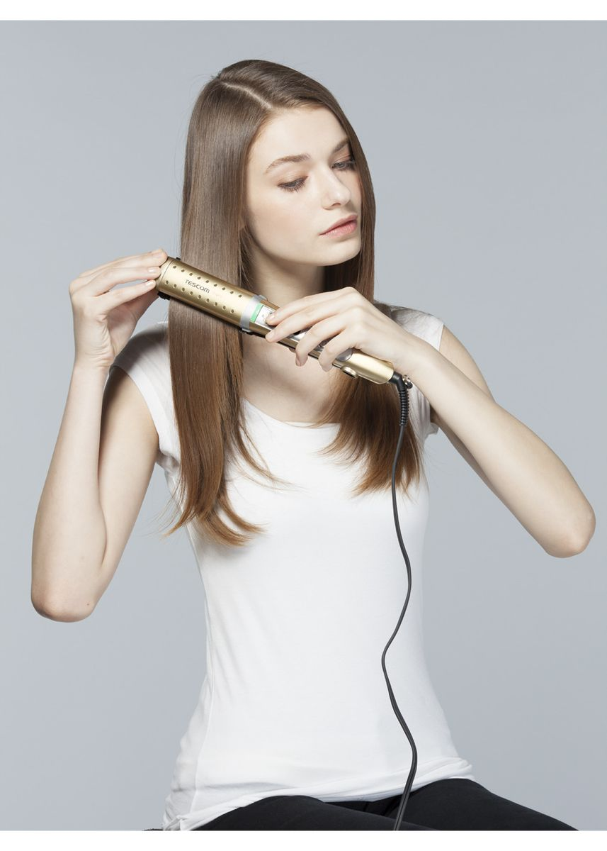 Gold color Styling . Nobby by Tescom NTIR2610 Multi Hair Iron -