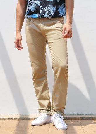 Khaki color Casual Trousers and Chinos . Heap Store กางเกงขายาว Chinos รุ่น HP301 -