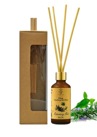 No Color color Home Fragrance . hHom Reed Diffuser ก้านไม้หอม กลิ่น Rosemary Mint 50 ml. -