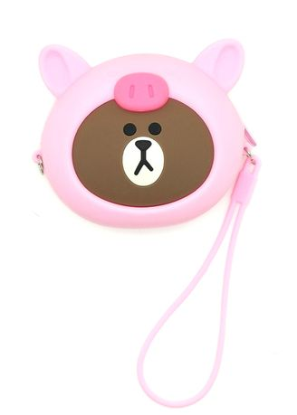 Pink color Wallets and Clutches . Gykaco Dompet & Clutch Wanita - Pink Bear - Fashion Wallet & Clutch (Import) -